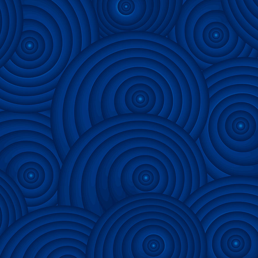 Navy Blue Painting - Navy Blue Abstract by Frank Tschakert