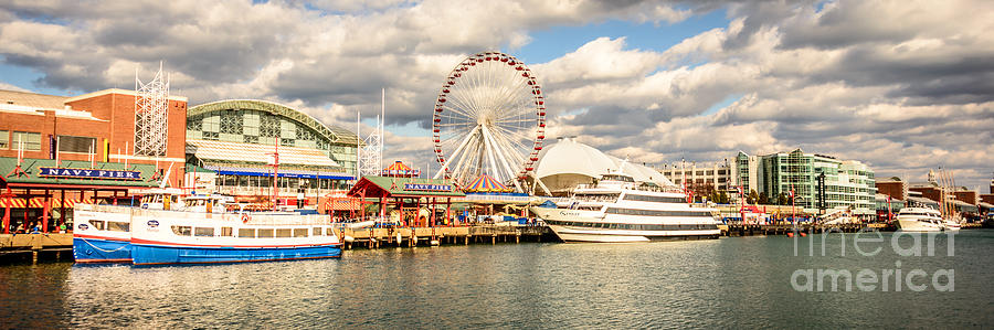 Navy Pier Chicago Panoramic Photo Photograph