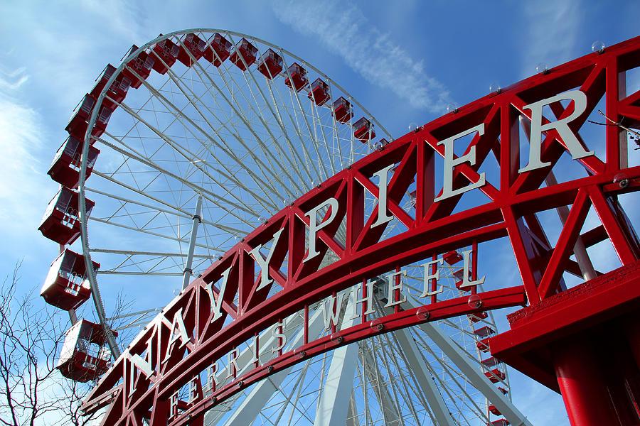 Navy Pier Photograph - Navy Pier Ferris Wheel by James Hammen