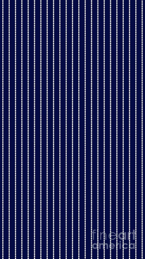 Abstract Digital Art - Navy Pinstripe 1 by Andee Design