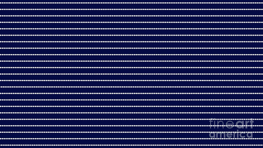 Abstract Digital Art - Navy Pinstripe 2 by Andee Design
