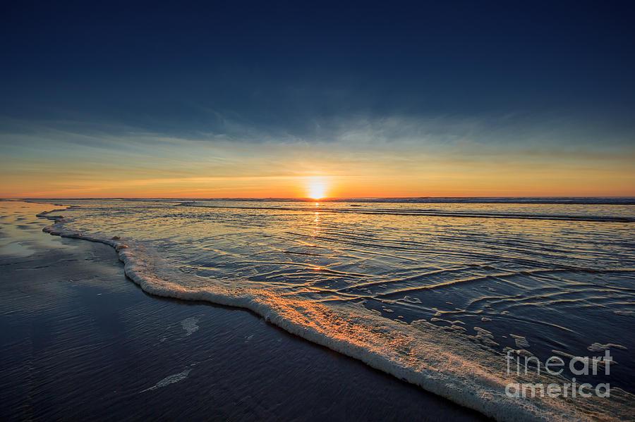 Orange Photograph - Navy Sunset by Lucid Mood