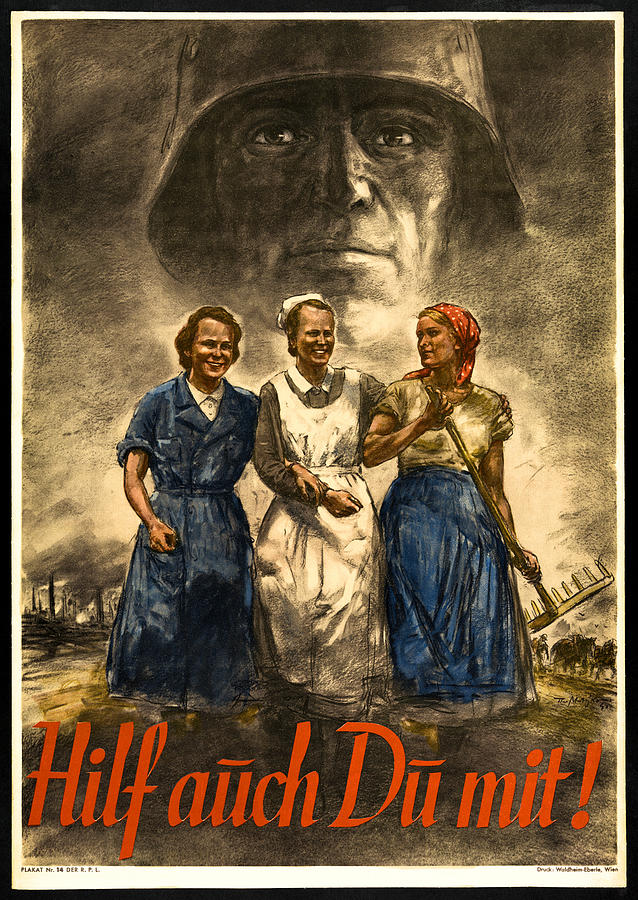 Nazi Photograph - Nazi War Propaganda Poster by Daniel Hagerman