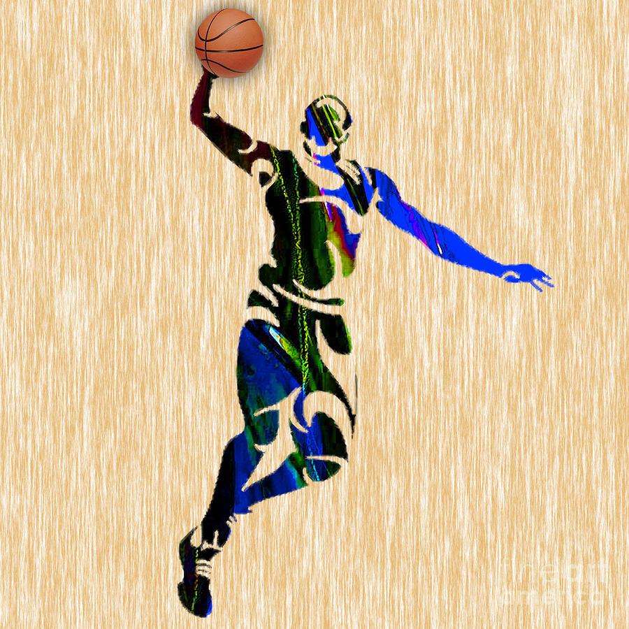 Nba Basketball Mixed Media by Marvin Blaine