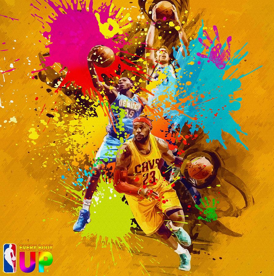 Nba Season Poster - Part 7 Digital Art by Don Kuing