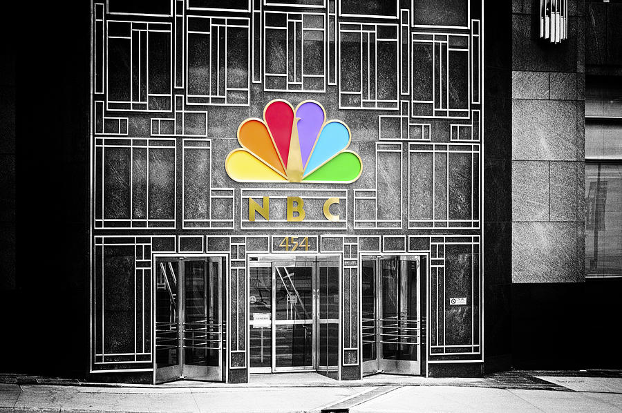 Chicago Photograph - Nbc Facade Selective Coloring by Thomas Woolworth