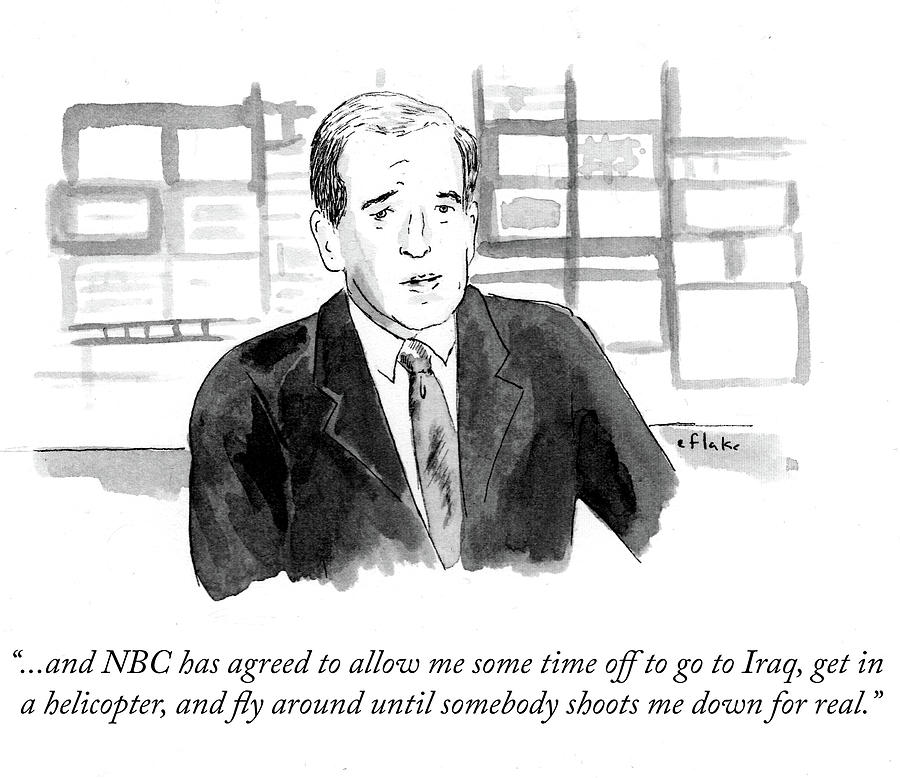 Cartoon Drawing - Nbc Has Agreed To Allow Me Some Time Off To Go by Emily Flake