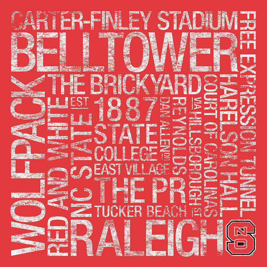 Photo Photograph - Nc State College Colors Subway Art by Replay Photos