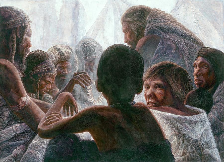 Neanderthal Photograph - Neanderthals With Modern Humans by Kennis And Kennismsf