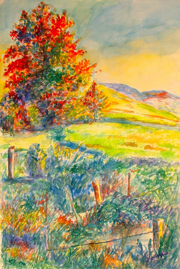 Landscape Painting - Near Childress Again by Kendall Kessler