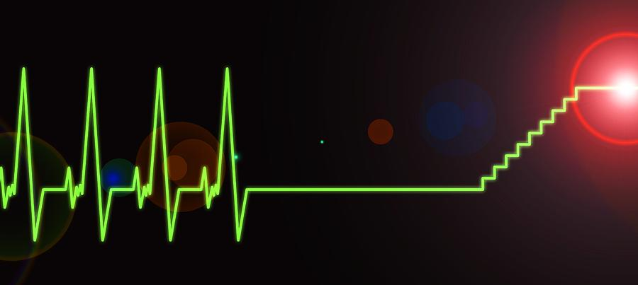Heartbeat Photograph - Near-death Experience, Heartbeat Trace by Science Photo Library