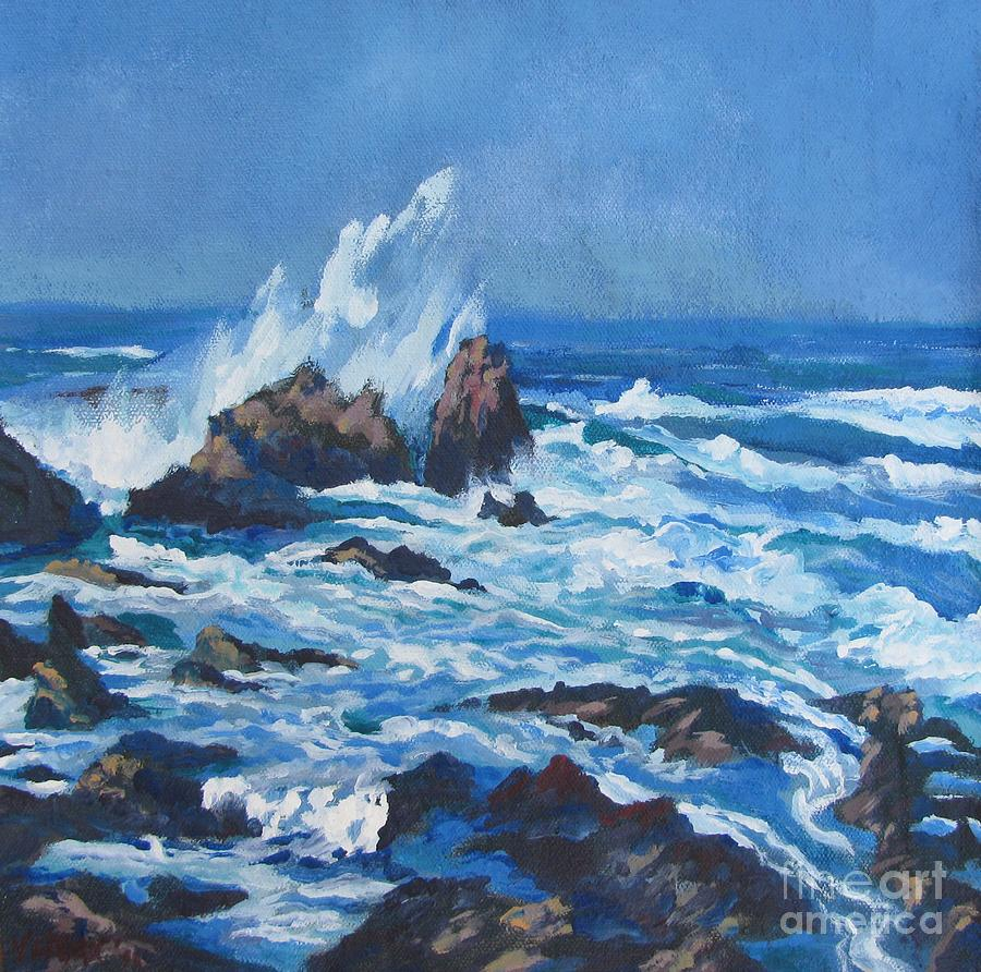 California Painting - Near Pt. Joe by Vanessa Hadady BFA MA