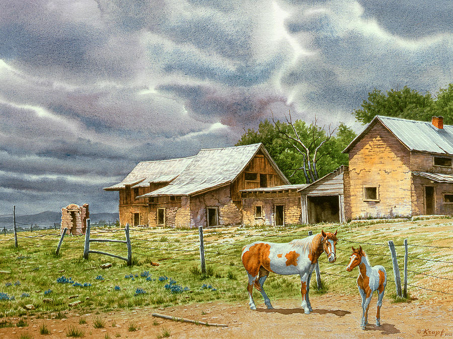 Landscape Painting - Near Taos by Paul Krapf