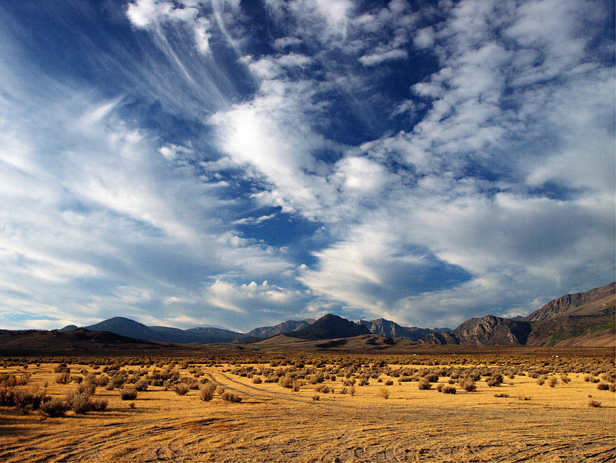 Mountains Photograph - Near The Intersection Of God And The Eastern Sierras by Joe Schofield