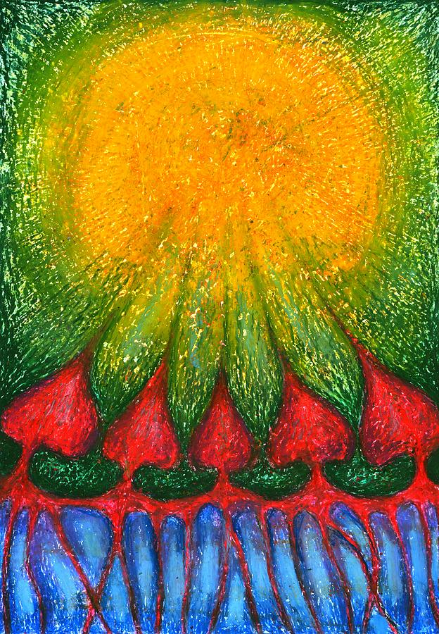 Colour Mixed Media - Nearer Sun by Wojtek Kowalski
