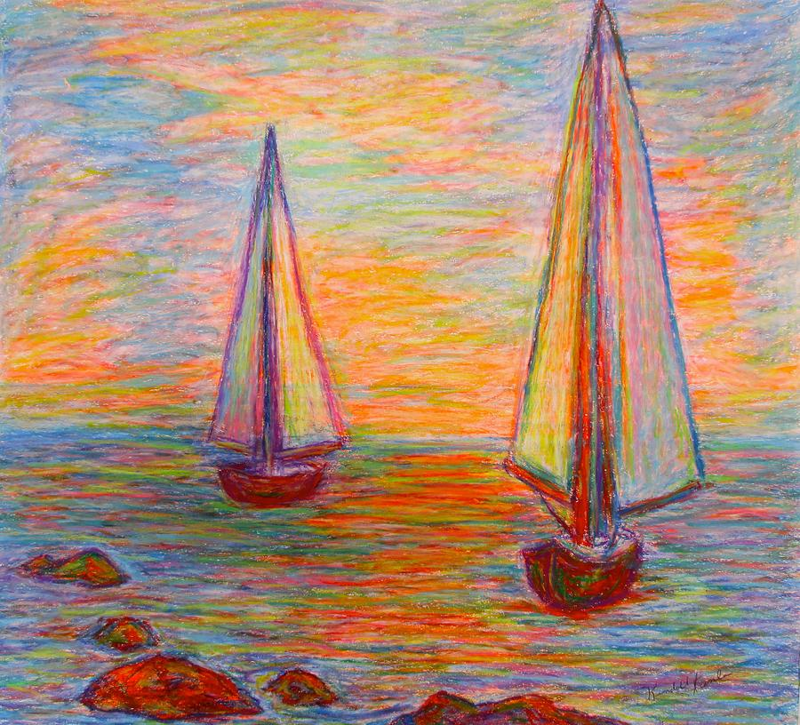 Boats Painting - Nearing The Shoals by Kendall Kessler