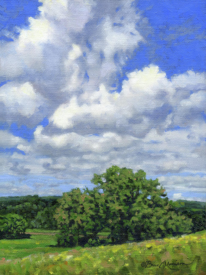 Summer Landscape Painting - Nearly September by Bruce Morrison