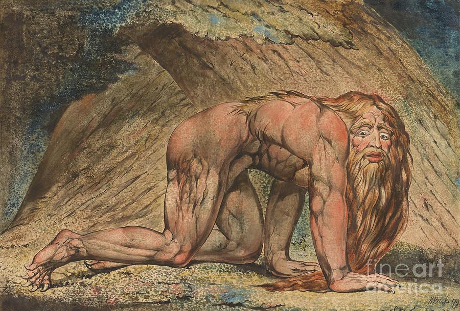 Wild Painting - Nebuchadnezzar by William Blake