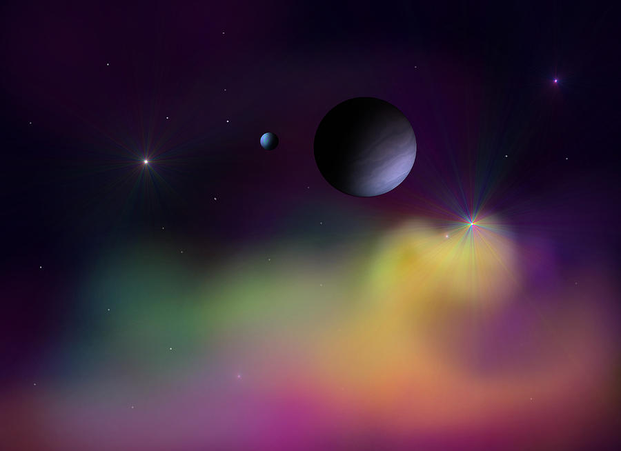 Planets Digital Art - Nebula 2 by Ricky Haug