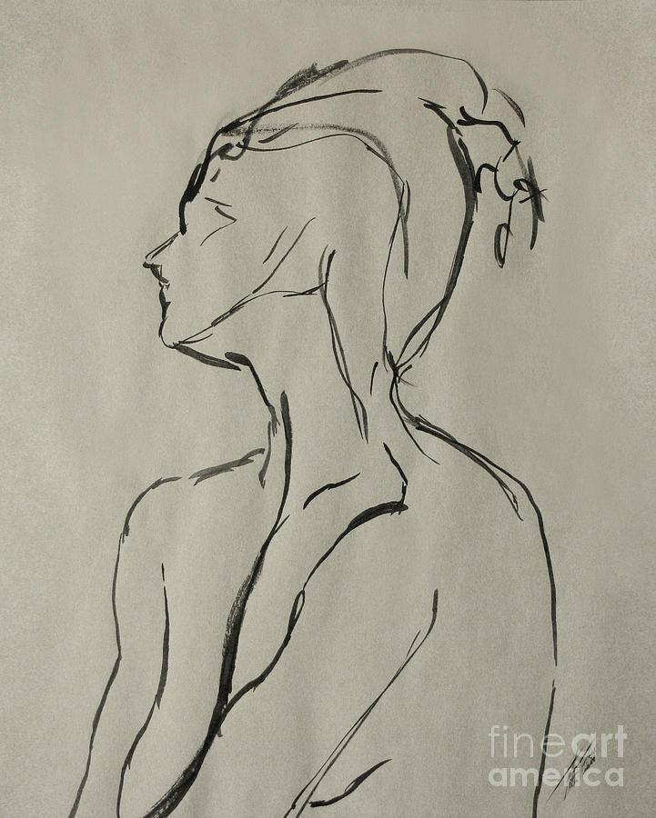 Neckline Drawing - Neckline by Peter Piatt