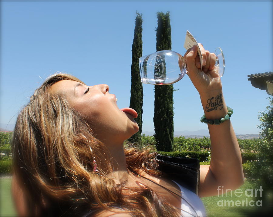 Vino Photograph - Necture Of The Gods...every Last Drop by Pamela Walrath