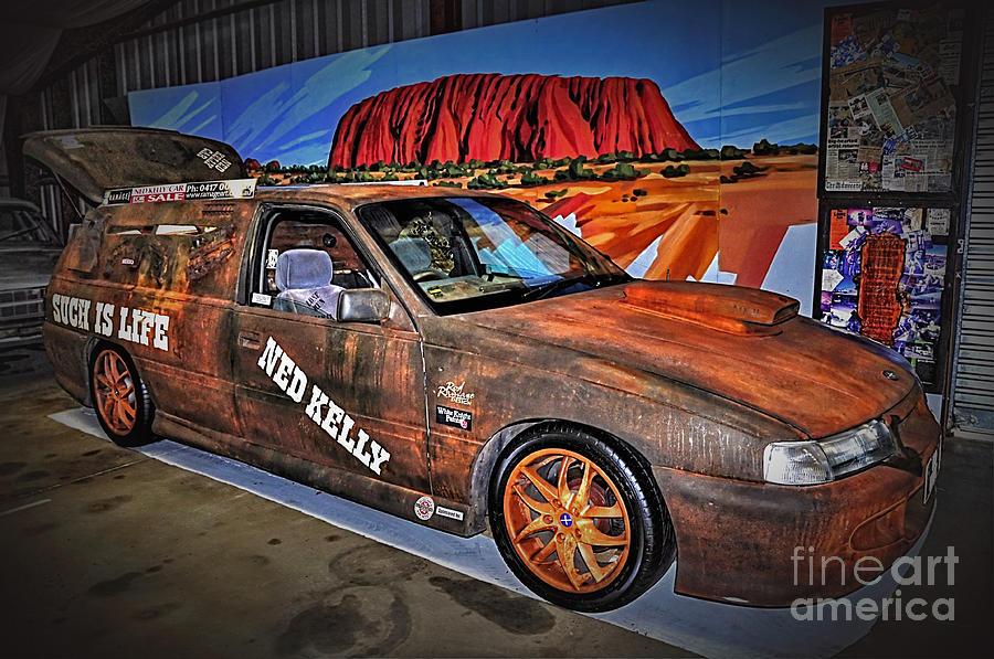 Hdr Photograph - Ned Kellys Car At Ayers Rock by Kaye Menner