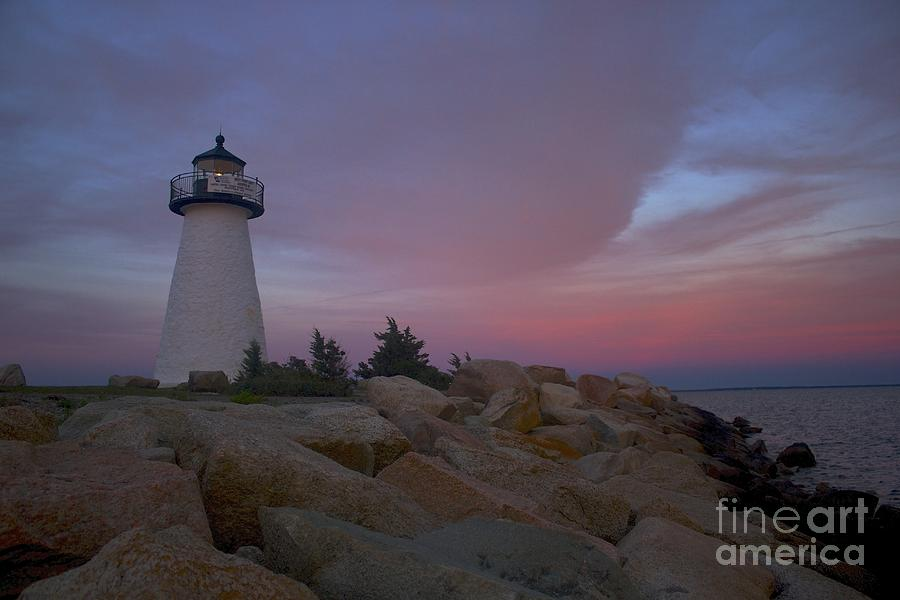 Lighthouse Photograph - Neds Point At Sunset by Amazing Jules
