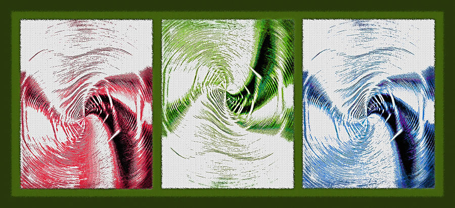 Abstract Photograph - Negative Space Triptych - Inverted by Steve Ohlsen