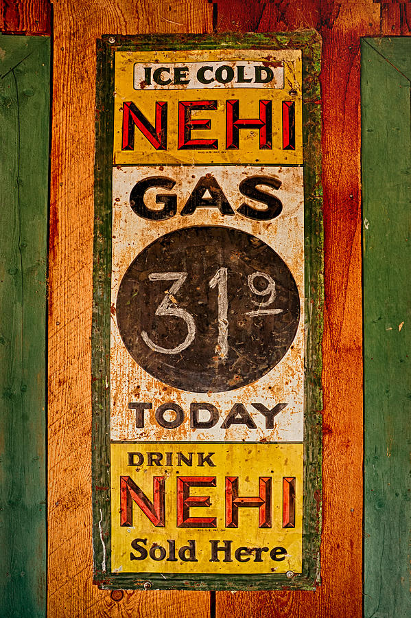 Nehi Photograph - Nehi And Gas Sold Here by Priscilla Burgers