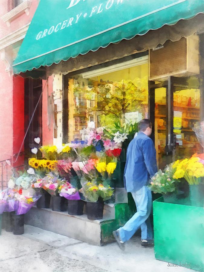 Flower Shop Photograph - Neighborhood Flower Shop by Susan Savad