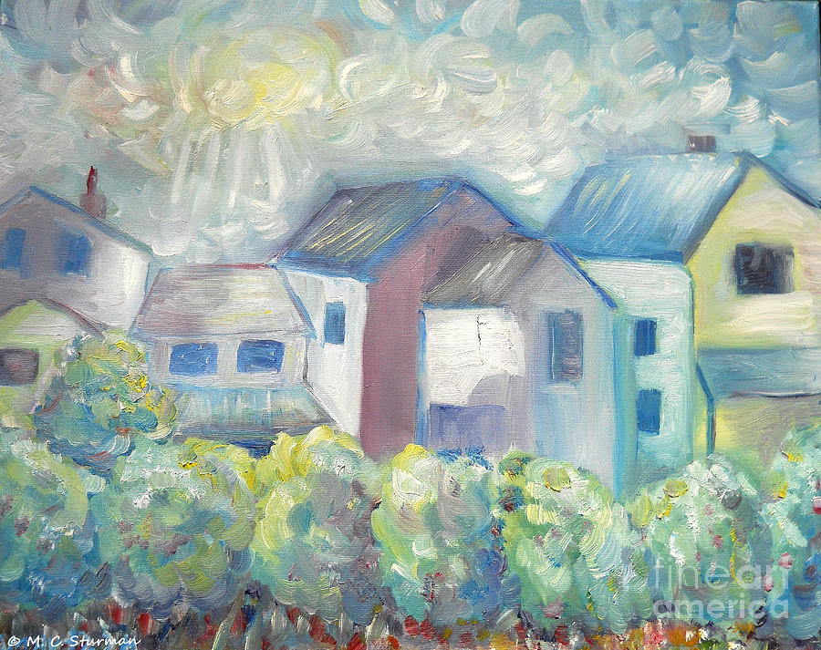 House Painting - Neighborhood In Light by M C Sturman