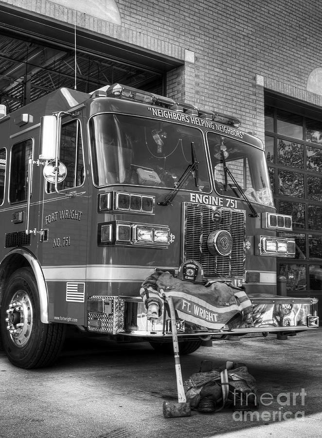 Fire Trucks Photograph - Neighbors Helping Neighbors 2 by Mel Steinhauer