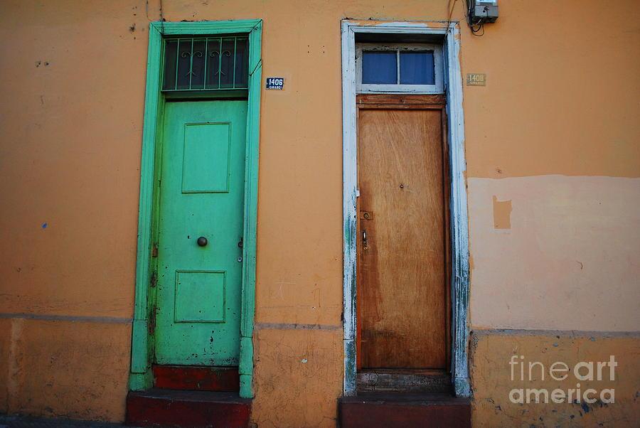 Door Photograph - Neighbors by Susan Hernandez