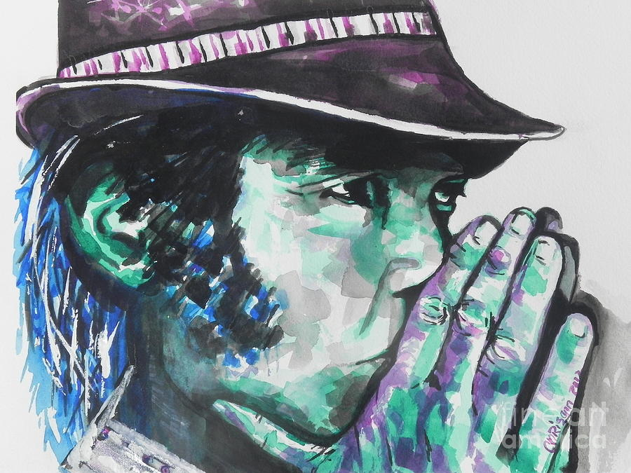 Watercolor Painting Painting - Neil Young by Chrisann Ellis