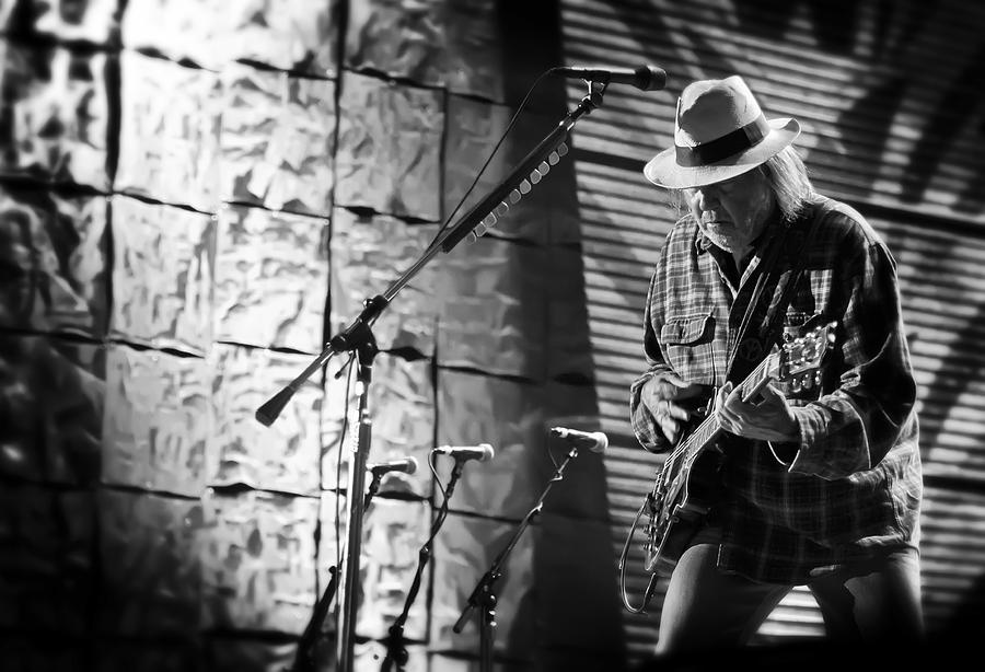 Neil Young Photograph - Neil Young Live In Concert by Jennifer Rondinelli Reilly - Fine Art Photography