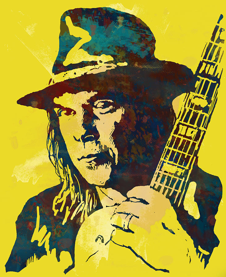 Portraits Photograph - Neil Young pop artsketch portrait poster by Kim Wang