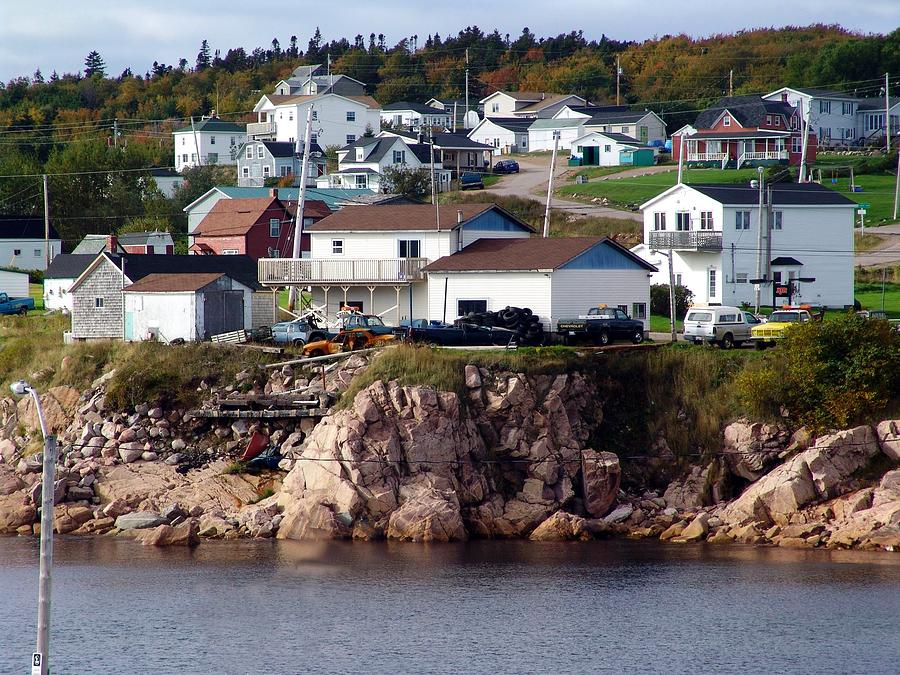 Cape Breton Island Mixed Media - Neils Harbour by Janet Ashworth