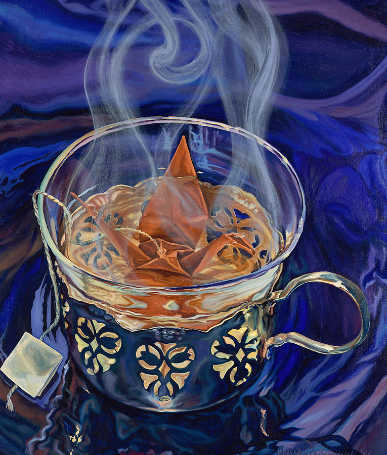 Tea Cup Painting - Neither Insipid nor Bitter by Christine Lytwynczuk