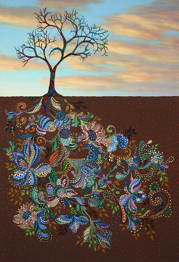 Tree Painting - Neither Praise Nor Disgrace by James W Johnson