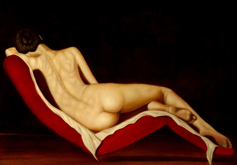 Nude Painting - Nel mare dei ricordi by Alessandra Veccia