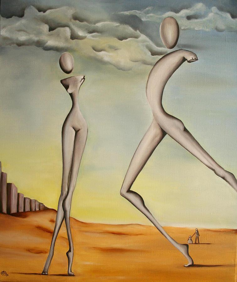 Giants Painting - Nella Terra Dei Giganti 2011 by Simona  Mereu