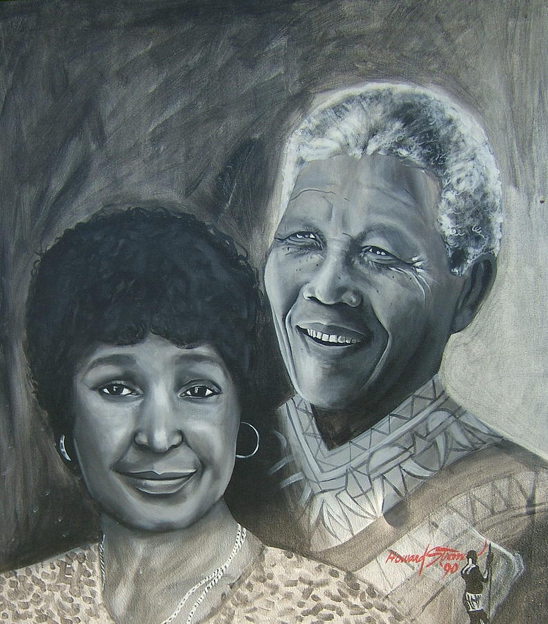 Nelson And Winnie Painting by Howard Stroman