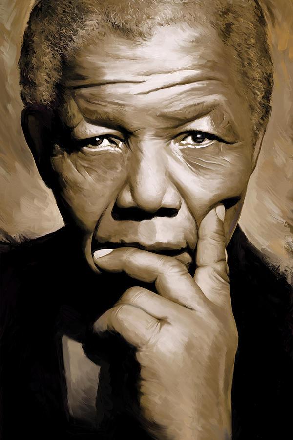 Nelson Mandela Paintings Painting - Nelson Mandela Artwork by Sheraz A