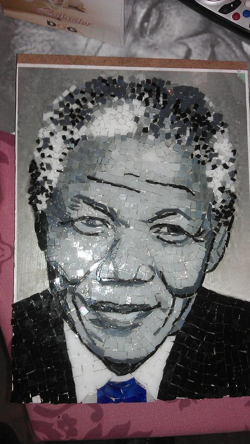Portrait Mixed Media - Nelson Mandela by Dalene Smit