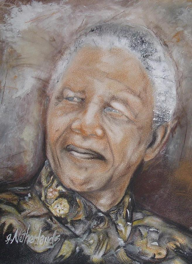 Political Painting - Nelson Mandela by Grant Netherlands
