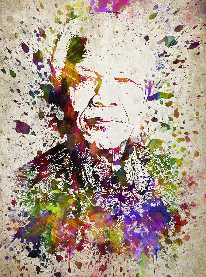 Nelson Mandela Digital Art - Nelson Mandela In Color by Aged Pixel