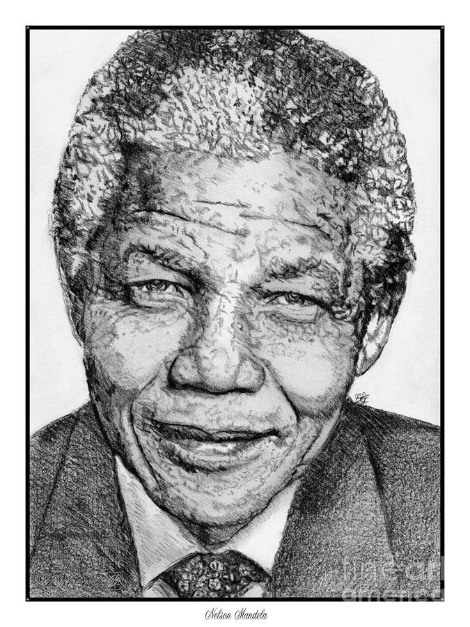 Nelson Mandela Drawing - Nelson Mandela by J McCombie