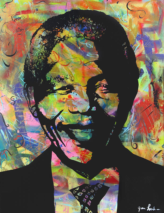Nelson Mandela Painting - Nelson Mandela by Jean P Losier