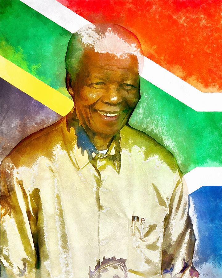South Africa Painting - Nelson Mandela by Kai Saarto