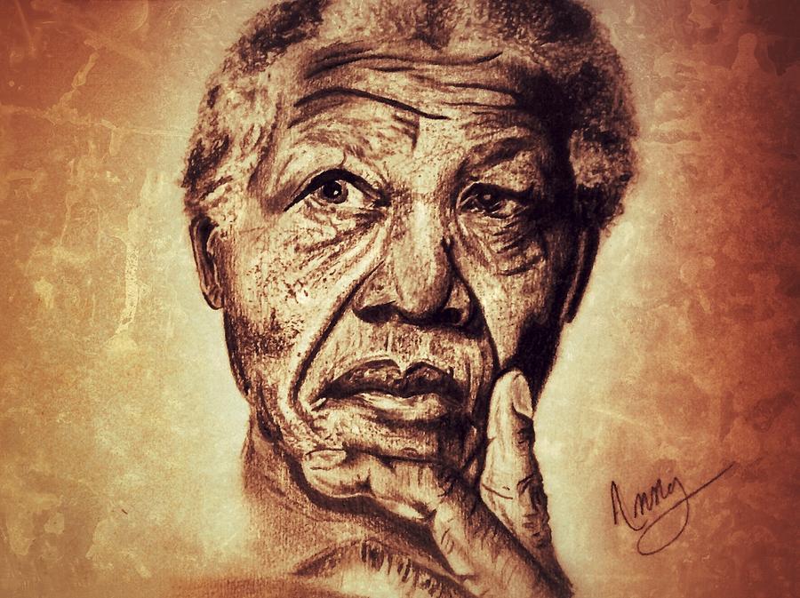 Nelson Mandela Painting - Nelson Mandela  by Leanne Lewis
